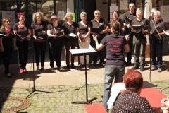 Der Büdinger Chor Allegro: Heute auch dirigiert von Frau Padrok
